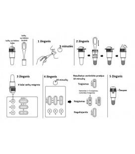 10 narkotinių medžiagų vartojimo nustatymo testas  iš seilių, N1