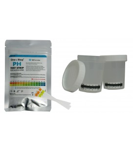 Saliva & Urine pH (tiriamas intervalas 4.5 -9.0) nustatymo testas iš seilių ar šlapimo mėginio, pakuotėje 100 vnt.
