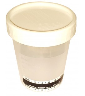 One Step universalus sterilus indelis šlapimui su temperatūros matavimo juostele, 100 ml