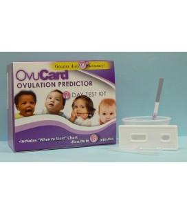 OVUCARD ovuliacijos testų rinkinys (7 kasetės + 7 indeliai šlapimui)